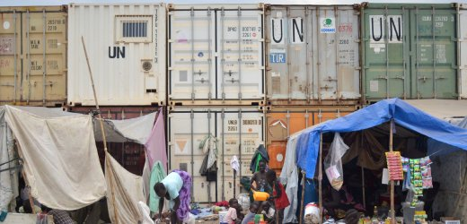 UN refugee camp in Juba - financial needs of over one billion dollars